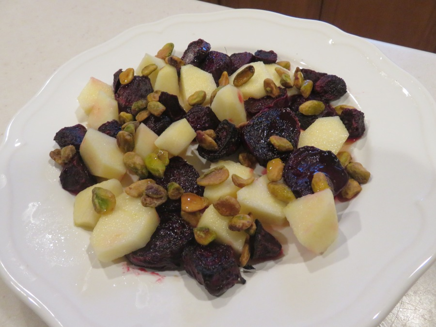 Roasted Beet, Apple and Pistachio Salad With Lemon HoneyDressing